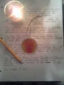 Talisman and candle